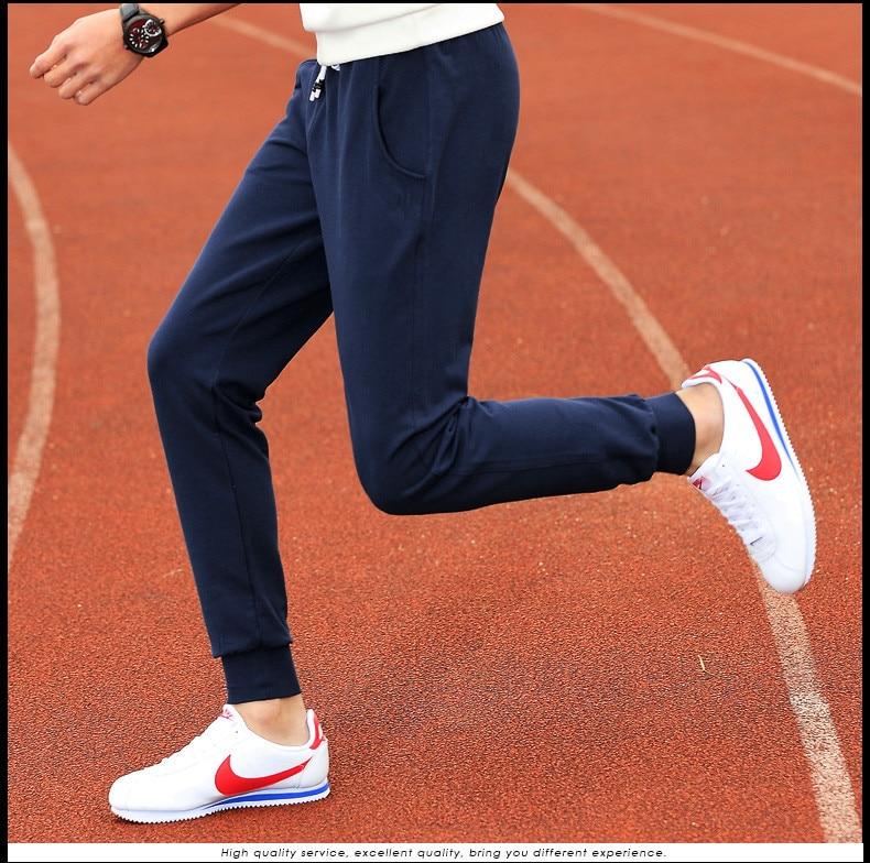Men's casual pants slim new fall / winter cashmere cotton warm men's casual cotton pants leggings