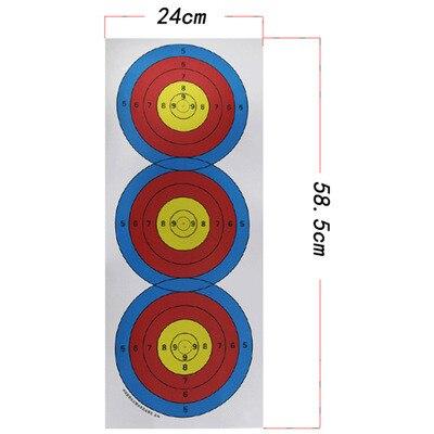 5 uds Triple papel de destino tiro con arco flecha tiro con arco dardos accesorio de competición