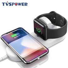 2 en 1 QI chargeur sans fil pour iPhone XS MAX XR X 8 Plus 10 W QC 3.0 chargeur rapide pour Apple Watch 1 2 3 pour Samsung S9 S8