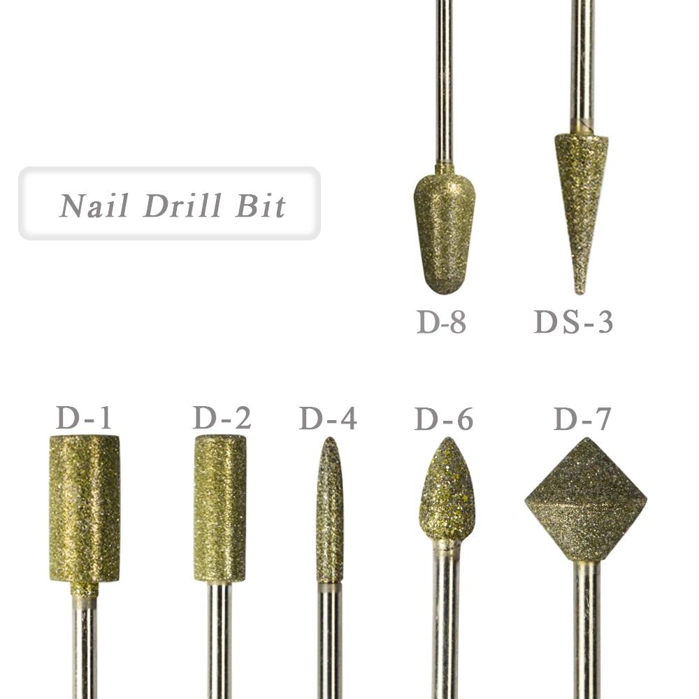1 Uds. Broca rotativa de diamante uñas artísticas fresa eléctrica profesional fresa pedicura fresa pulidora herramienta de archivo manicura JID