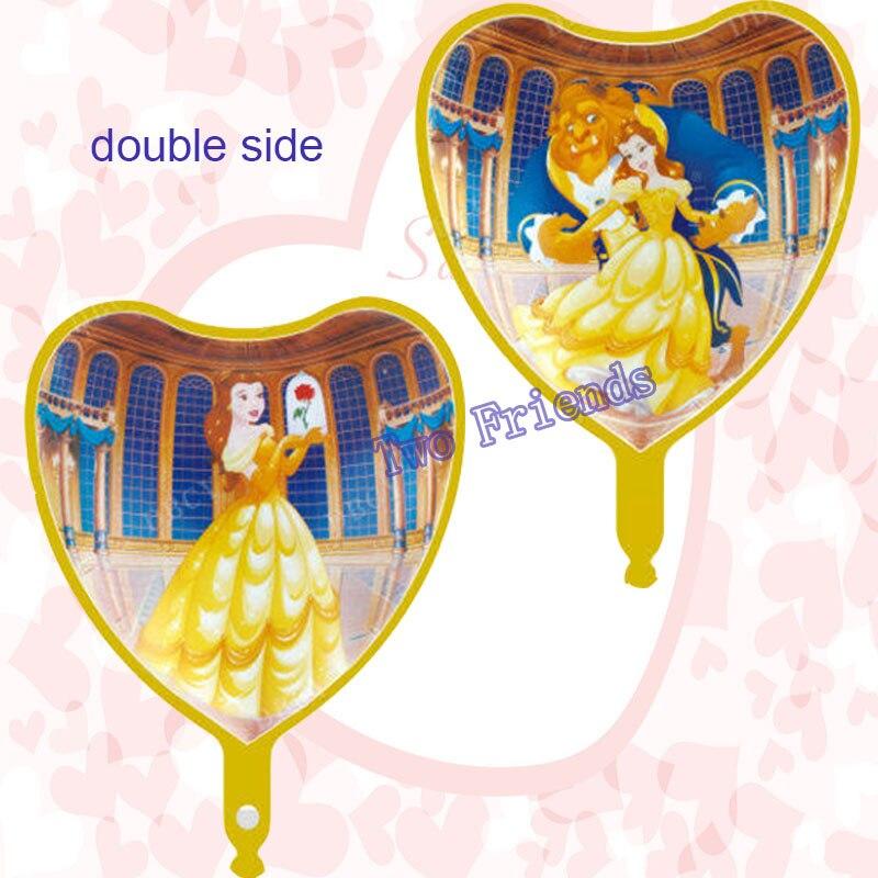 5 teile/los 18 inch herz form Schönheit und Das biest folie luftballons Hochzeit Liebe partei liefert Geburtstag party geschenk dekoration globos