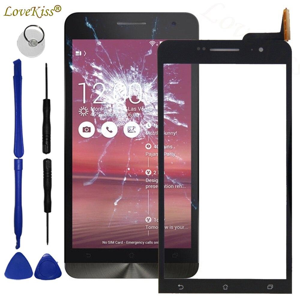 Передняя панель для Asus Zenfone 6 A600CG T00G A601CG Zenfone6 сенсорный экран сенсор ЖК-дисплей дигитайзер стекло крышка TP Замена