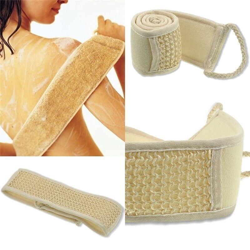 Unisex 70cm X 8cm esponja suave exfoliante Natural cuerpo cepillo para espalda Correa baño rascador y masajeador de spa para ducha esponja piel corporal de baño