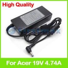 19 V 4.74A 90 W chargeur pour ordinateur portable adaptateur secteur pour Acer Aspire 5535Z 5536G 5536Z 5538G 5540 5541G 5542G 5543 5545 5550 5551 5552G