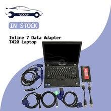 Adaptateur de liaison de données moteur Diesel   Outils de diagnostic Diesel, adaptateur de site V8.3 logiciel + T420 ordinateur portable, kit complet, Scanner de camion