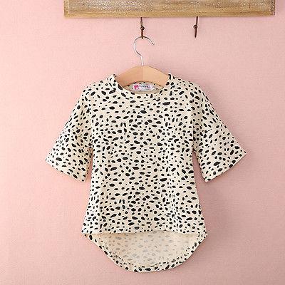 Maluch dzieci dziewczyny jesień 3/4 długi rękaw nadruk lamparta krótka sukienka fit 0-5T