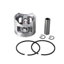 1 Kit de Piston de tronçonneuse 45mm pour moteur de cylindre de gaz chinois 5200 52cc G5200 avec anneaux de broche pièces de rechange Circlips