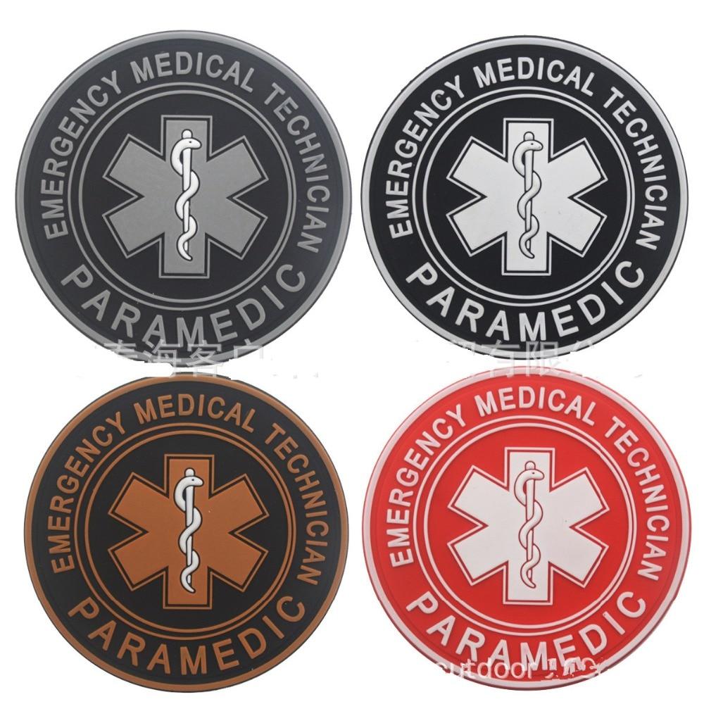 Медицинский пластырь EMT для экстренных случаев, медицинский техник, медицинский патчи, значок армейского морального духа, ПВХ-патчи на крючках для курток и рюкзаков
