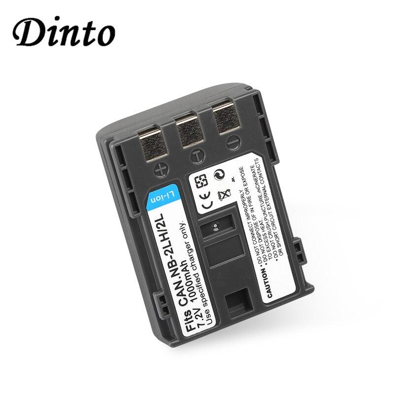 Dinto 1000mAh NB-2L NB2L NB 2L NB-2LH recargable batería para cámara Digital para Canon ZR500 MD120 140 160 S30 S40 S45 NB2LH NB 2LH