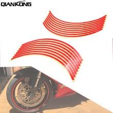 Для YAMAHA XMAX 125/200/250/400 XT660 XJ6 FAZER TMAX 500 530 17 дюймов/18 дюймов полоски на колеса мотоцикла светоотражающие наклейки на колеса