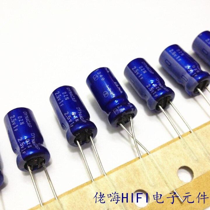2019 Hot Sale Bolsa Electrolytic Capacitor 20pcs Farad 1f 2.5v 8*15mm Original Elna Super Dynacap Dzn 1 Million Uf Free Shipping