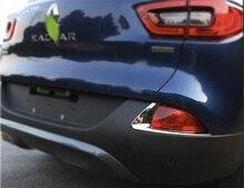 Lapetus pour Renault Kadjar 2016 2017 accessoires ABS   Couvercle de moulage de décoration arrière derrière phare antibrouillard, garniture de 2 pièces/ensemble