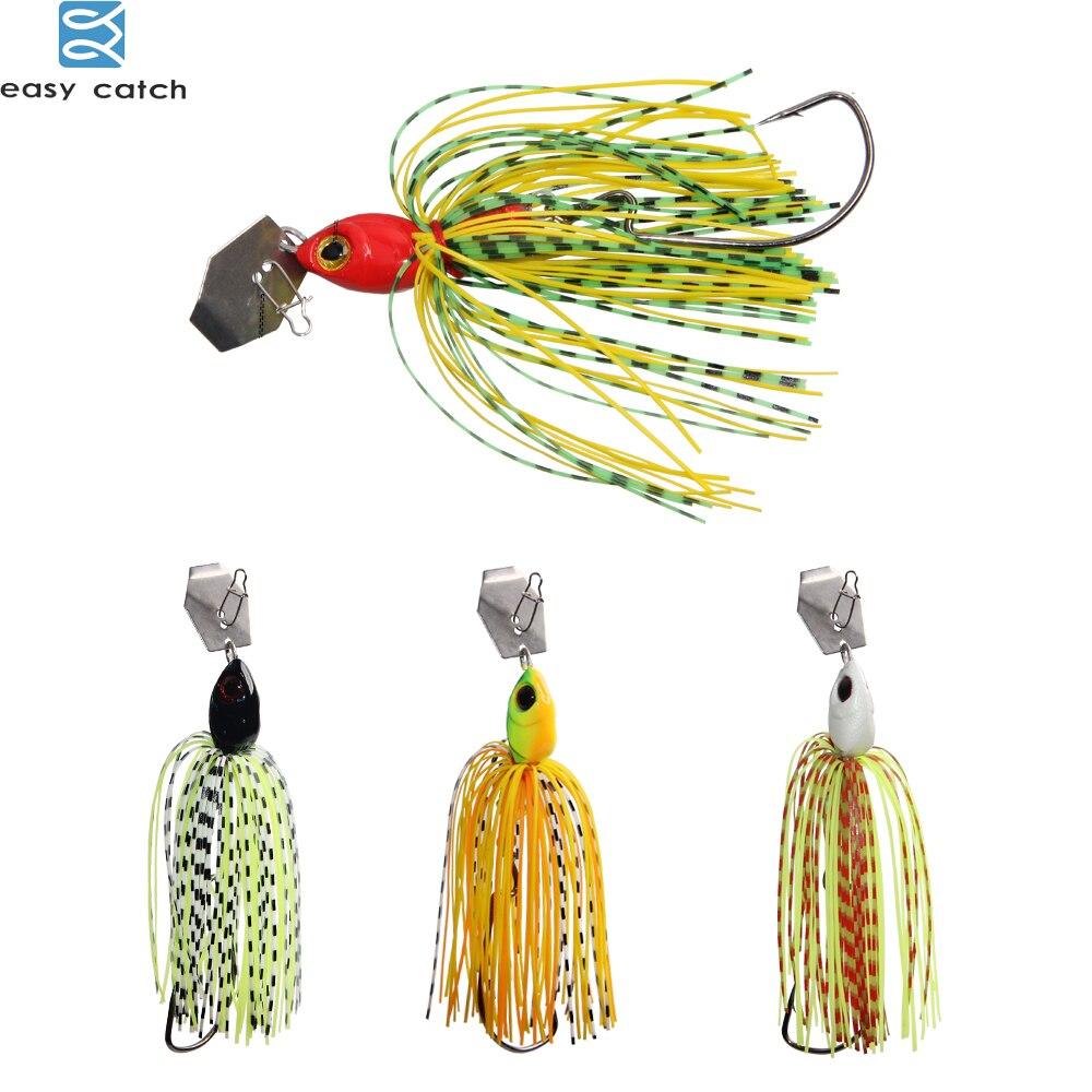 Fácil captura 6 unids/lote señuelos Chatterbait serie élite con silicona faldas buzzbait spinnerbait para pesca