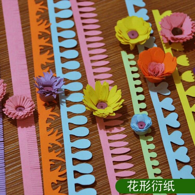 Envío Gratis 5 uds * 8 paquetes diseño 5cm * 50cm diseño de flores papel para filigrana manualidades para DIY tarjetas hechas a mano decoración papel/Scrapbooking