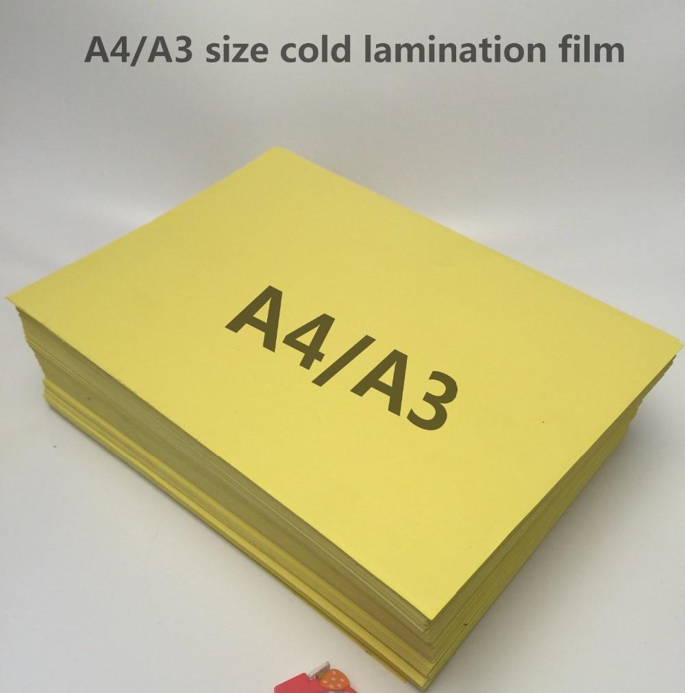 Película de laminación A4/A3 de alta calidad, película de laminación en frío de alta calidad para fotos con parte posterior amarilla