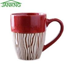JANKNG-tasses à café en céramique   Colorée, tasse peinte Style Provence, tasse de café, tasse lait thé bouteille, tasse élégante, cadeau pour fille de 410mL