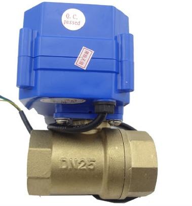 "1 ""válvula de bola eléctrica de latón 9-24 V voltaje CWX-15Q/N"