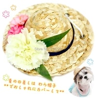 free shipping fashion dog hat design color fresh candy flower pet cat cap accessories yorkie poodle maltese photography