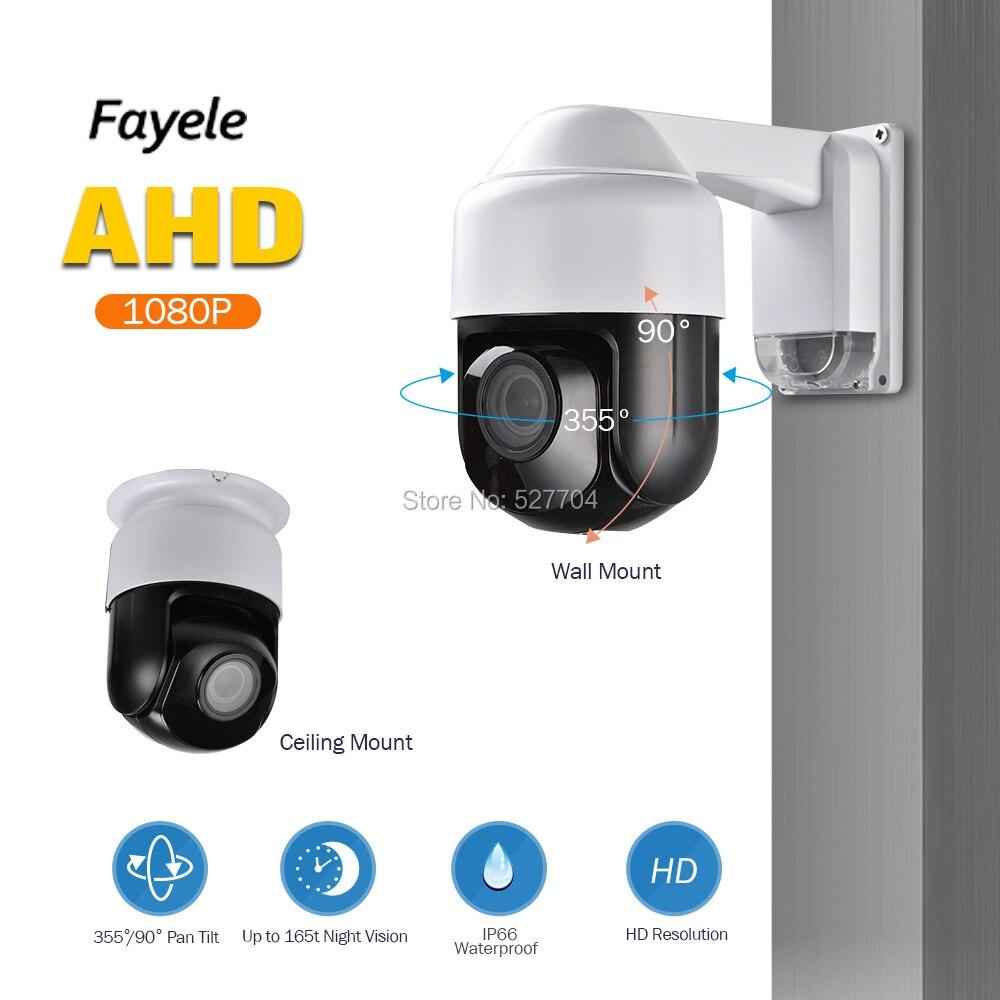"CCTV de seguridad IP66 AHD 1080P cámara PTZ Full HD 2MP 3 ""Mini tamaño 4X ZOOM 2,8-12-12mm IR enfoque automático UTC Coaxial RS485 Control PTZ"