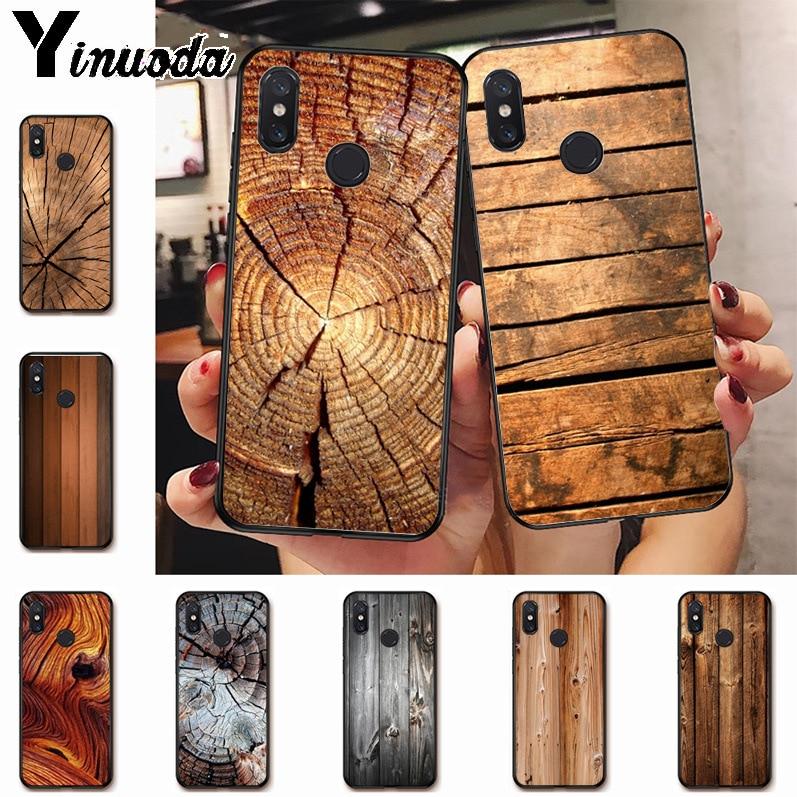 Ynuoda grão de madeira textura abstrata incrível nova chegada caso do telefone capa para xiaomi mi 8 se 6 note3 redmi 5plus nota 5 caso