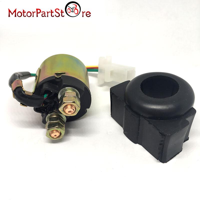 Motorbike2-Wire Plug Connection Starter Relay Solenoid for Yamaha XV750 Virago SR185 YFM350 forHonda ATV 300 Fourtrax Suzuki @20