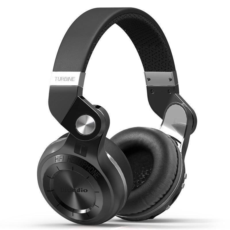 Original Bluedio T2 + auriculares bluetooth plegables sobre la oreja BT 4,1 FM radio y tarjeta SD funciones música y teléfono callslOEM box