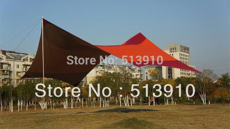 King dosel 5,5*5,6 m super grande tamaño UV COCHE Tienda de sombrilla/Hexagonal Punta toldo para la lluvia lona
