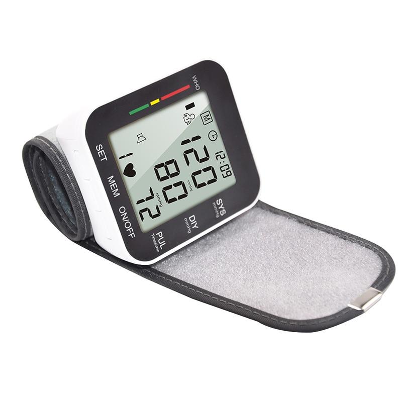 Monitor Digital de presión arterial para muñeca, máquina automática portátil para uso doméstico, Dropshipping