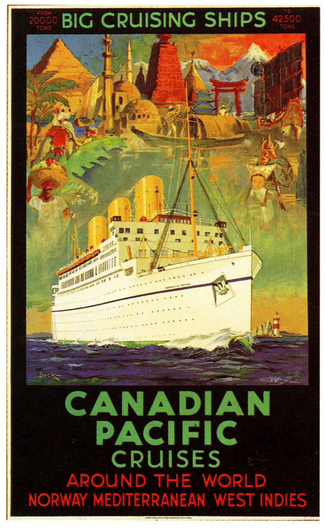 Cartel de publicidad Vintage, cuadros clásicos de lienzo de calcomanías del Pacífico Canadiense, pósteres de pared Vintage, pegatinas para decoración del hogar, regalo