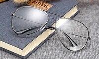 2019 glasses classic pilot double bridge spectacle frame custom made prescription lens myopia reading glasses 1 to 6 1 to6