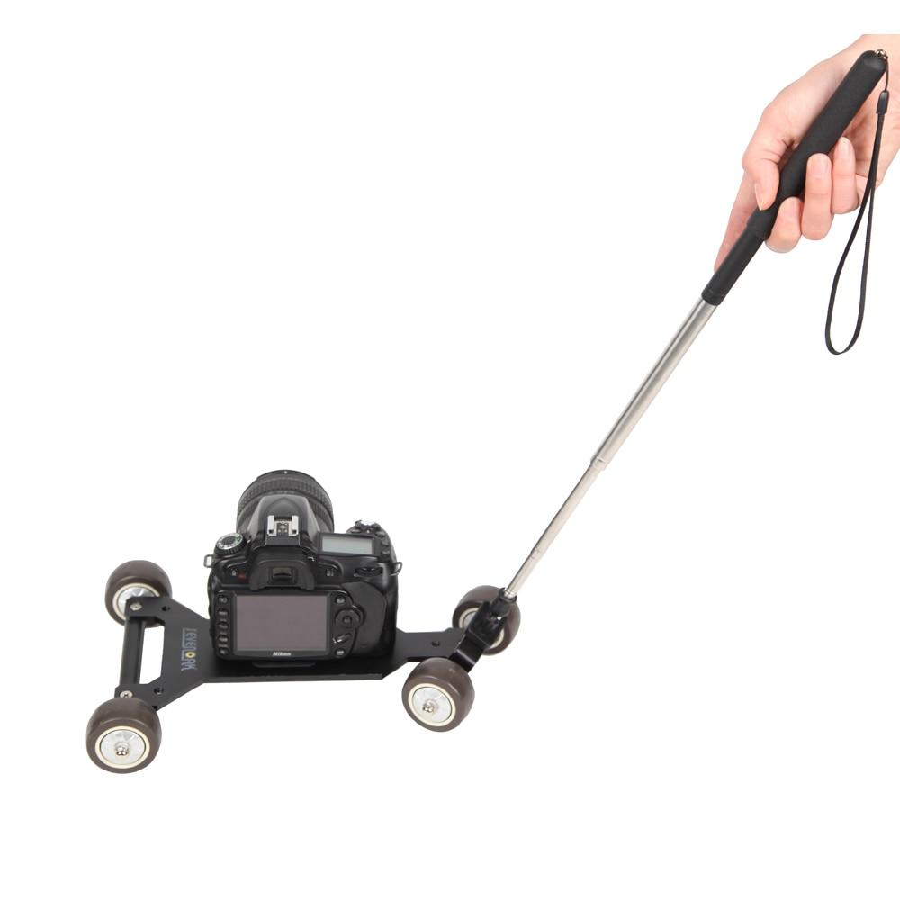 SK-DW01 profesional cámara de vídeo pista Dolly sistema para cámaras Mini videocámaras DVs