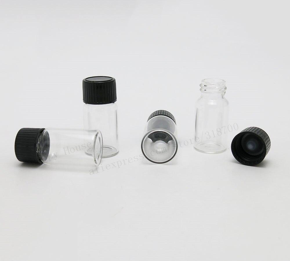 360 x 10cc المحمولة بالجملة فارغة 10 مللي زجاج زجاجات الفلين واضحة قوارير مع غطاء برغي بلاستيك 22 مللي متر