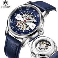 Luxury Top Brand Automatic Mechanical Watches Mens Fashion Watch Leather Sport Businness Wristwatch Male Clock Relogio Masculino