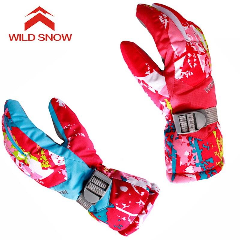 Женские лыжные перчатки, ветрозащитные теплые зимние перчатки для катания на лыжах, сноуборде, снегоходы, мотоциклетные водонепроницаемые ...