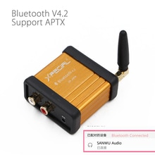 HIFI-Class Bluetooth 4.2 Audio Receiver Amplifier Car Stereo Modify Support APTX Low Delay Gold bluetooth handsfree car kit
