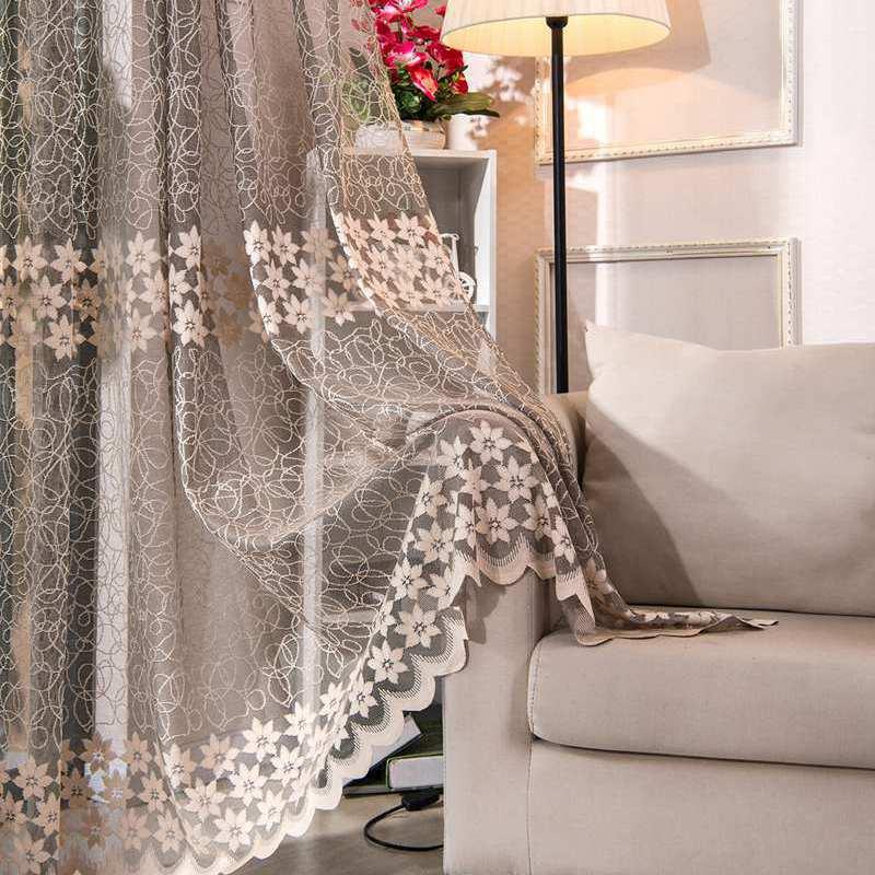 Cortinas ahuecadas de gasa de ventana de Jacquard de alta calidad para sala de estar cortina de balcón cortinas personalizadas para dormitorio