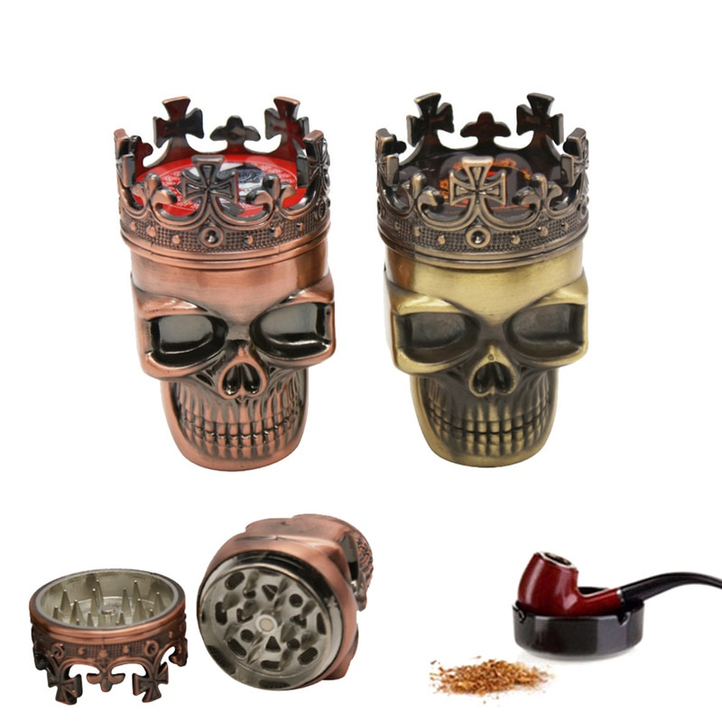 2017, модная металлическая шлифовальная машина для курения табака, с рисунком в виде короны, травяных перьев, moledor de hierba
