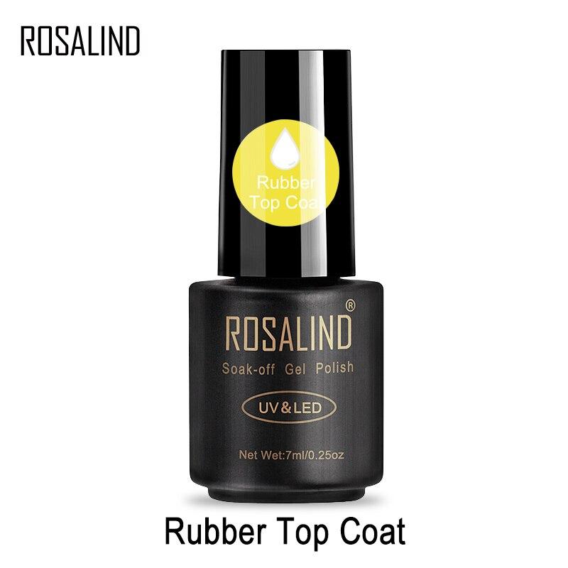 ROSALIND-esmalte de Gel para uñas, laca de Gel para capa superior para la manicura de uñas artísticas, transparente y de larga duración, 7ml