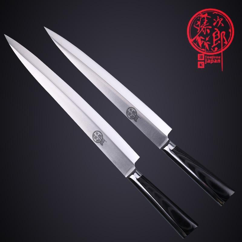 Free Shipping Toujiron Western-style Professional Sashimi Sashayed Knife Kitchen Cooking Sushi Salmon Slicing Fillet Knives