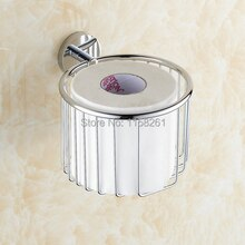 Paper Holders Brass Chrome Toilet Paper Basket Towel Holder Shower Storager Bathroom Accessories Bath Wall Shelf Basket KH-8683
