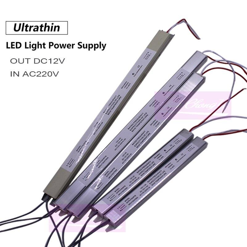 12 v 2a 3a 5a 24 w 60 ultrafinos comutação transformador de iluminação da fonte alimentação 24 36 48 60 220vac para led strip box
