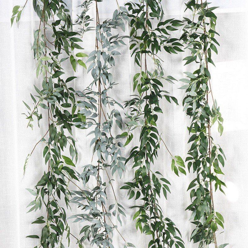 Artificial Ivy Green Leaf Garland Plants Vine Fake Foliage Flowers Home Garden Leaves Decor Fake Rattan String Grass Cactus