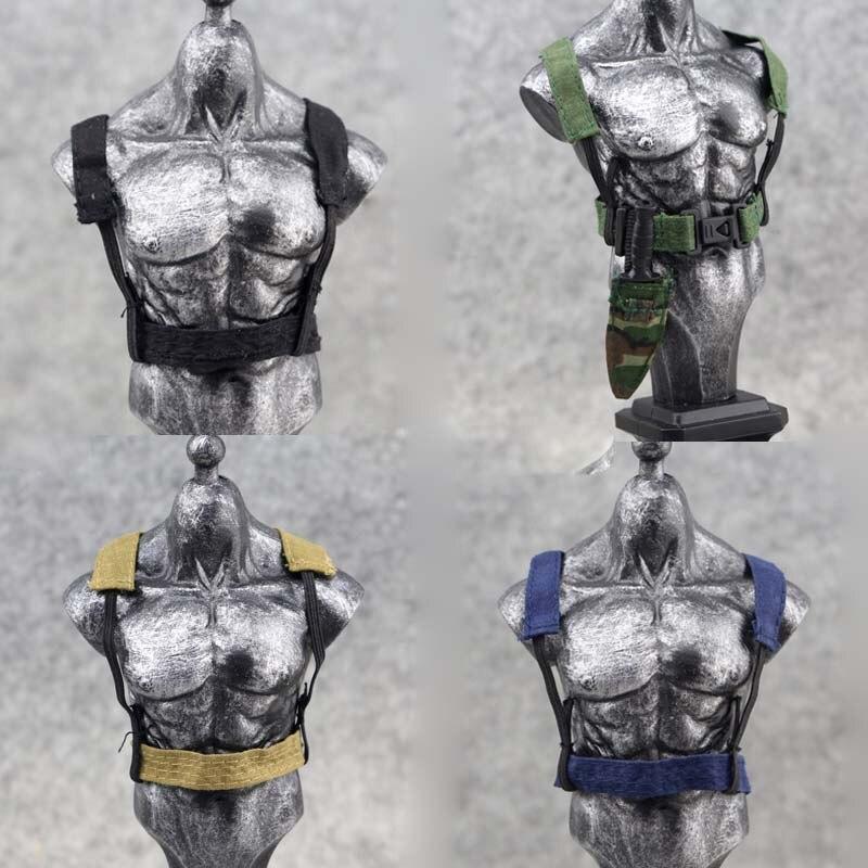 "1/6 escala cinturón carga cinturón chaleco componente modelo para 12 pulgadas figura militar modelo de 12 ""soldado figura"