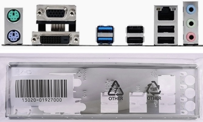Новинка I/O защитная задняя пластина материнской платы для H110M-K H110M-K D3 B150M-K просто защитная задняя панель Бесплатная доставка