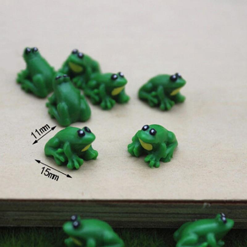 2 Pcs DIY Supplies / Figurine Little Frog Doll House/ Miniatures / Cute / Fairy Garden Gnome / Moss Terrarium Decor / Crafts