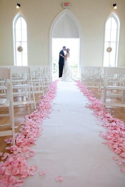 Pétalos de rosas artificiales para decoración de boda, pétalos de rosa de...