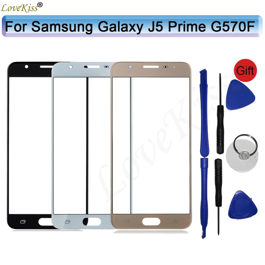 Для Samsung Galaxy J5 Prime J5Prime G570F On5 2016 G570 сенсорный экран Объектив ЖК-дисплей передняя стеклянная панель Крышка Замена