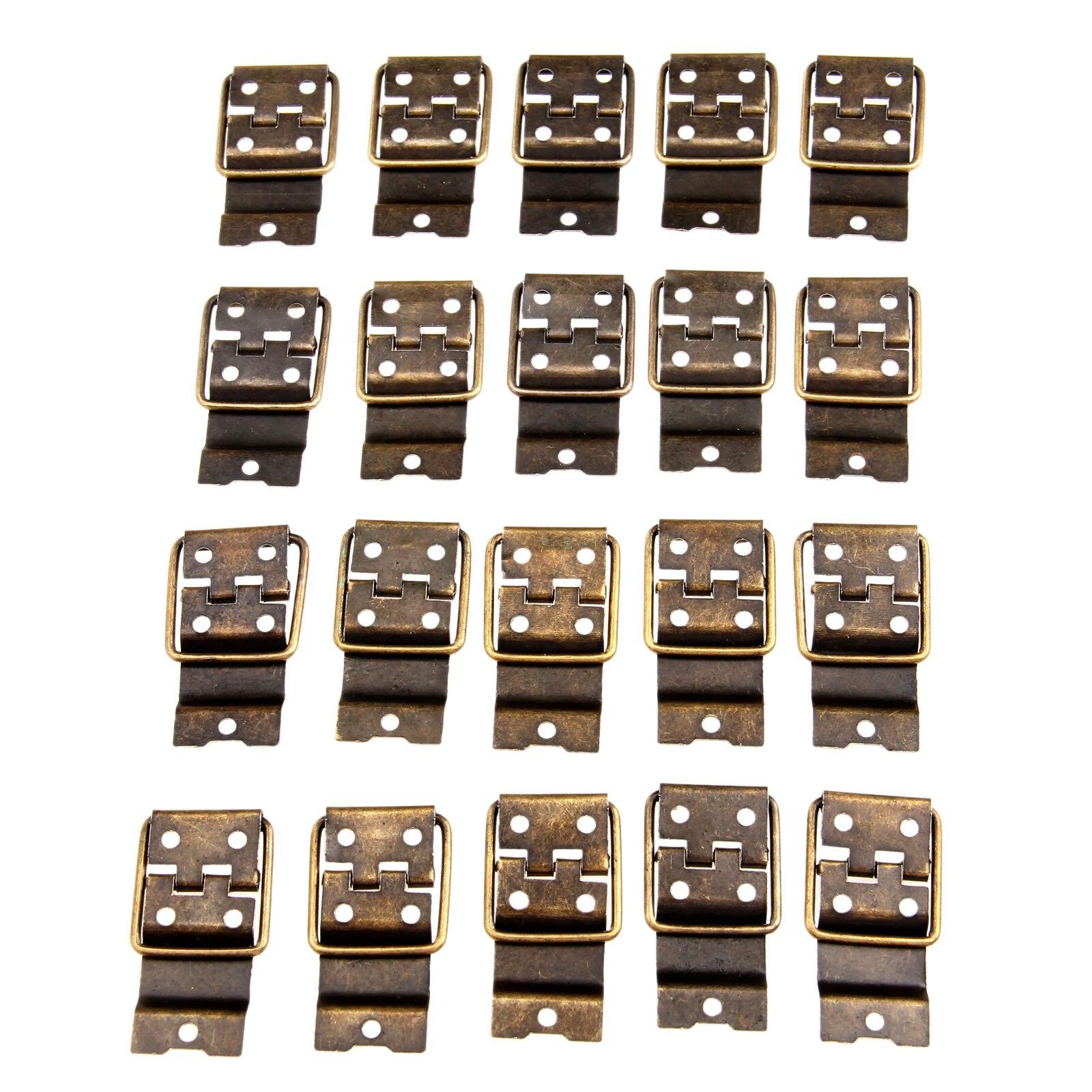 Charnières de meuble en Bronze Antique   20 pièces, charnières de porte, tiroir, boîte à cadeau de bijoux, charnières pour matériel de meuble 38x21mm