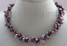 Huij 003891 lavande Reborn Keshi pétale collier de perles