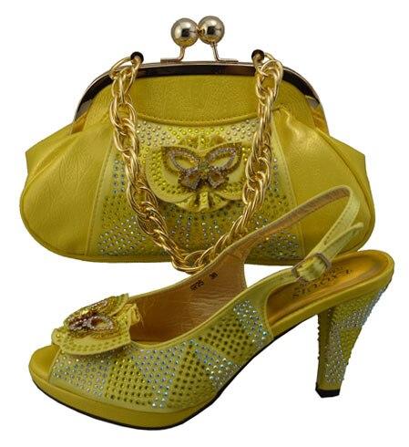 Doershow, Envío Gratis por DHL, zapatos africanos y bolsos, ¡un juego de juego para la moda de fiesta, zapatos y bolsos a juego, Italia! F1-5